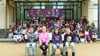 Os alumnos e alumnas do CEIP Manuel Padín Truiteiro din NON á violencia de xénero(2/5)