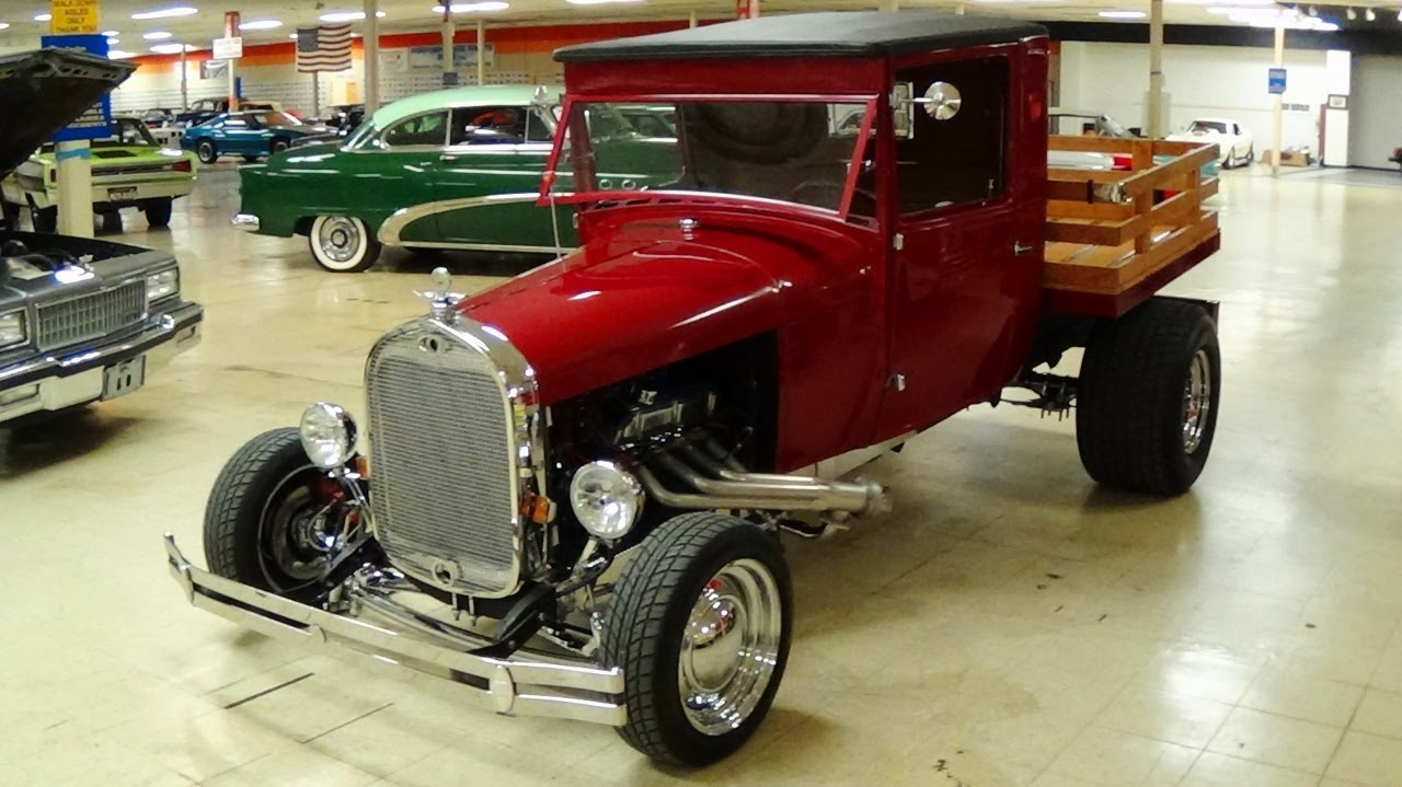 1929 Ford Hot Rod Pickup 302 V8 4 BBL - YouTube