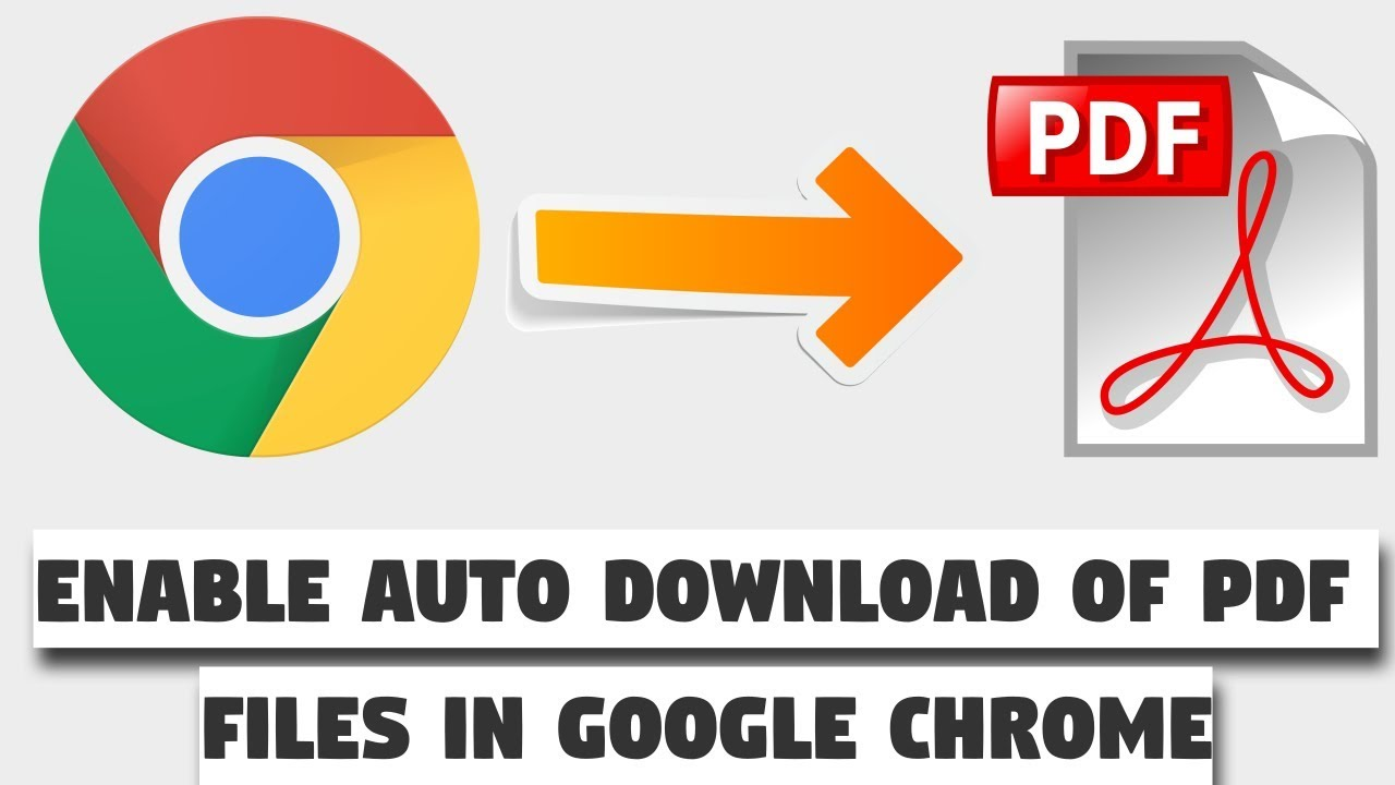 How to enable auto download of pdf files in google chrome instead.