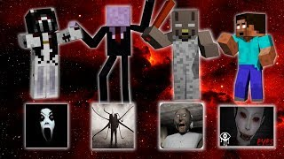 Monster School: ALL HORROR EPISODE - Minecraft Animation