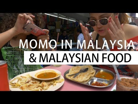 Momo in Malaysia Trying Out Various Types of Malaysian Food