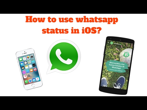 How To Use Whatsapp Status In Ios Youtube