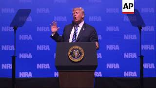 Trump Salutes NRA, Vows to Protect 2nd Amendment