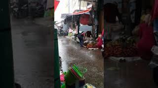 Pasar Alam Diguyur Hujan - Jumat Pagi
