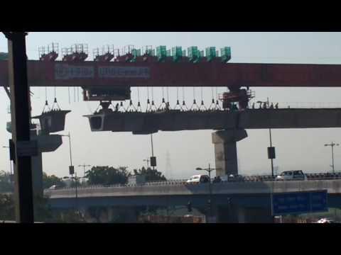 Delhi metro bridge making , advanced engineering