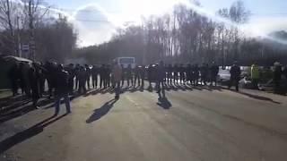 Yaqin Kolomna aholisi Mart kuni mahalliy poligon 28, 2018 uchun yo'l blokirovka