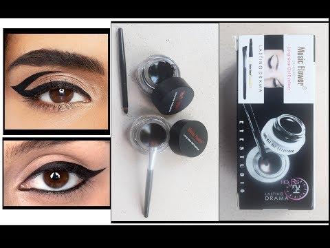 How To Apply Gel Liner/Gel Eyeliner Review/Music Flower Gel Eyeliner