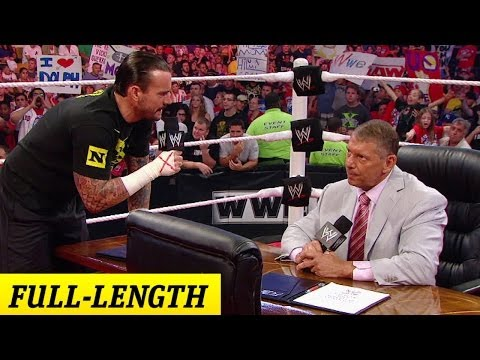 CM Punk negotiates his contract with Mr. McMahon