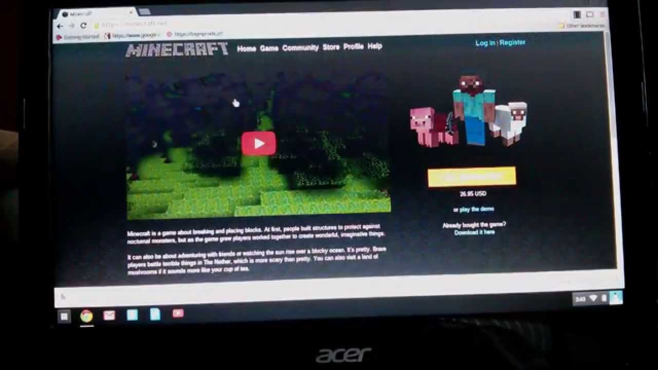 MINECRAFT FOR FREE ON CHROMEBOOK PDF DOWNLOAD