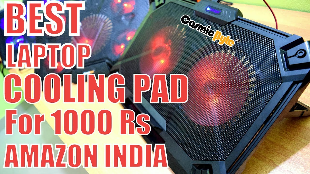 Best Laptop Cooling pad Amazon India // Cosmic Byte Asteroid VS COMET
