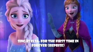 Karaoke Instrumental Sing as Elsa- For the first time in forever (Reprise)