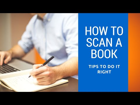 How to Scan A Book - A video showing how a book is digitized