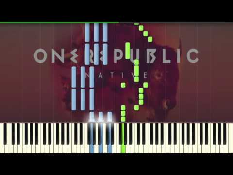 One Republic - All The Right Moves - Piano tutorial (Synthesia)