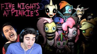 THESE PONIES JUMPSCARED THE LIFE OUT OF US!! - Five Nights at Pinkie's (ft. TheGameSalmon) | Part 1