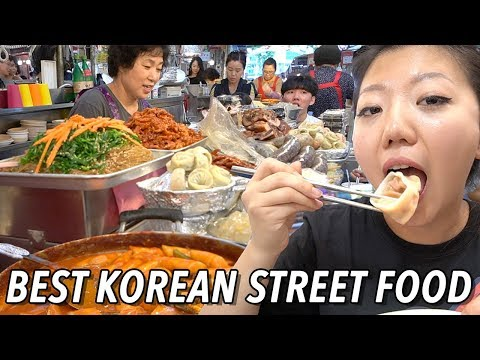 TOP 10 KOREAN STREET FOODS TO TRY! Gwangjang Market Street Food Tour in Seoul, South Korea