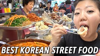 TOP 10 KOREAN STREET FOODS TO TRY! Gwangjang Market Street Food Tour in Seoul, South Korea