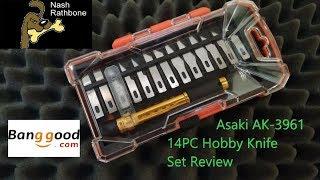 Asaki AK-3961 14 PC Hobby Knife Review