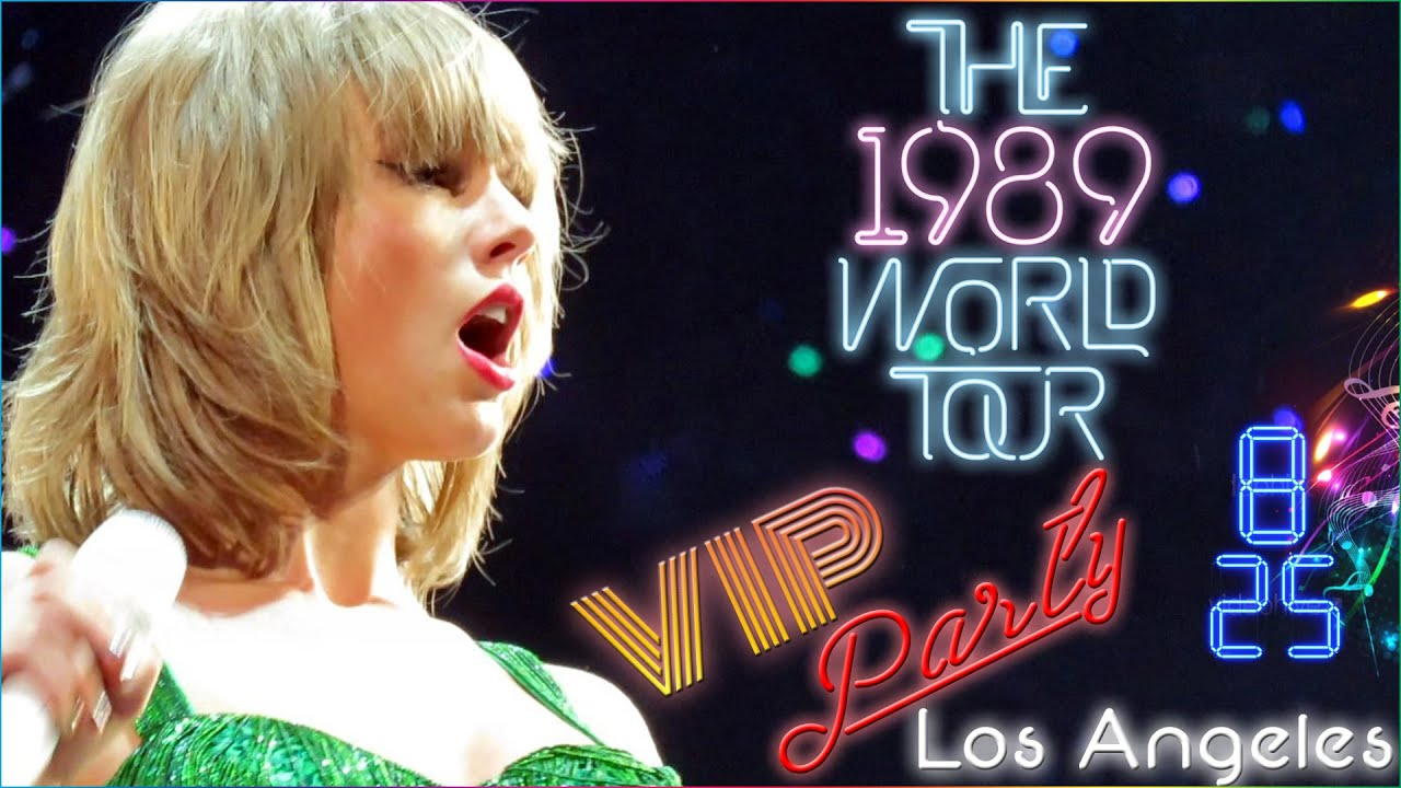 Taylor swift vip party 1989 world tour staples center los taylor swift vip party 1989 world tour staples center los angeles ca 2015 youtube m4hsunfo