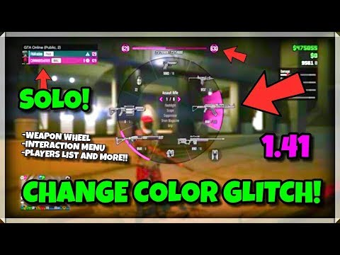 *NEW* CHANGE GTA 5 ONLINE WEAPON WHEEL COLOR/THEME SOLO + EASY! (GTA 5 SOLO GLITCH) AFTER PATCH 1.41