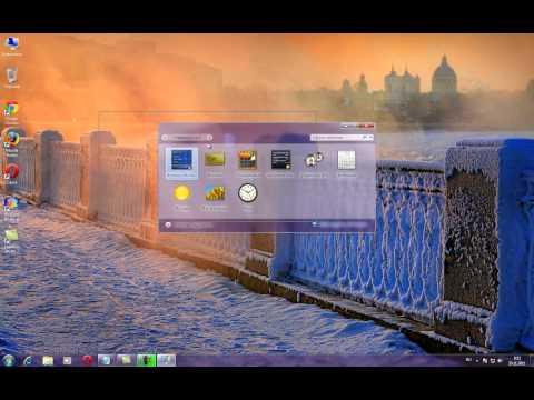 Как установить гаджеты на рабочий стол в Windows 7