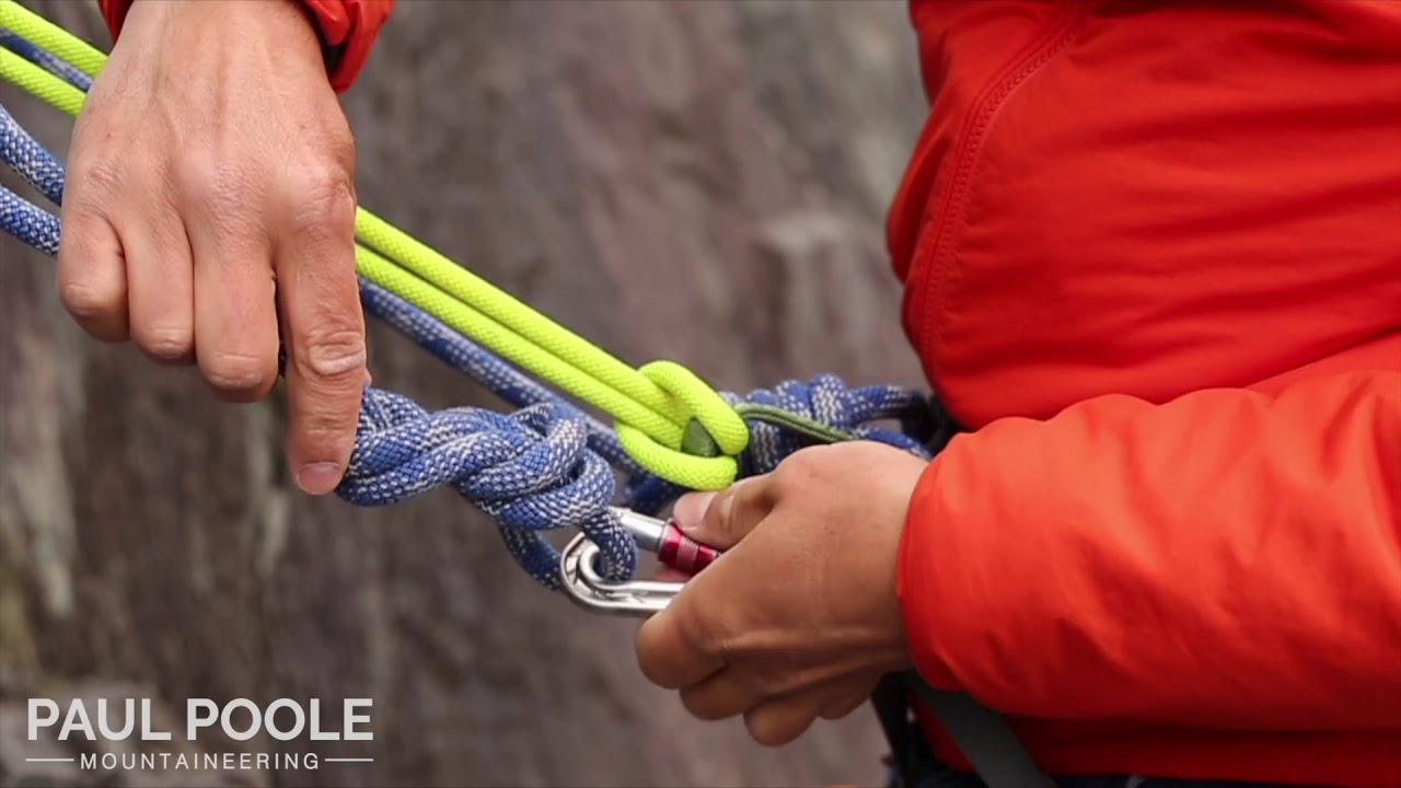 Rethreading the top of a sports route with a sling lanyard