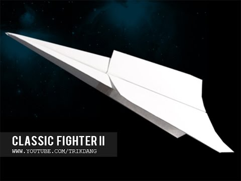 Best Paper Planes: How to make a paper airplane that Flies FAR for beginners | Classic Fighter