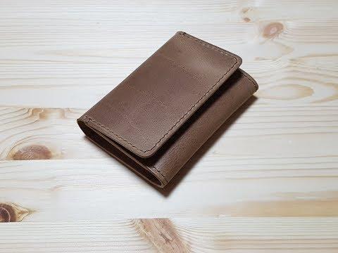 가죽 명함 케이스 만들기 / making a handmade leather business card case -TYPE A-