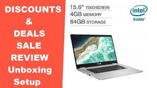 """2019 Newest Asus Chromebook 15.6"""" C523NA-IH24TSilver REVIEW DEALS DISCOUNTS SALES UNBOXING SETUP"""