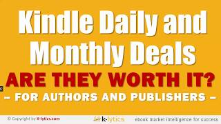 Are Kindle Deals worth it for authors?