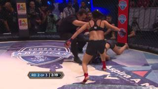 Melissa Martinez scores a knockout in Combate 15