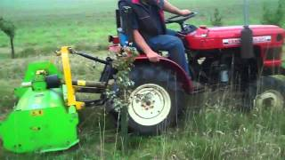 Compact Tractor Hire  Flail Mowing