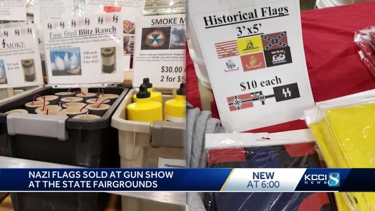 Locals debate Nazi symbols, bomb materials being sold at gun show