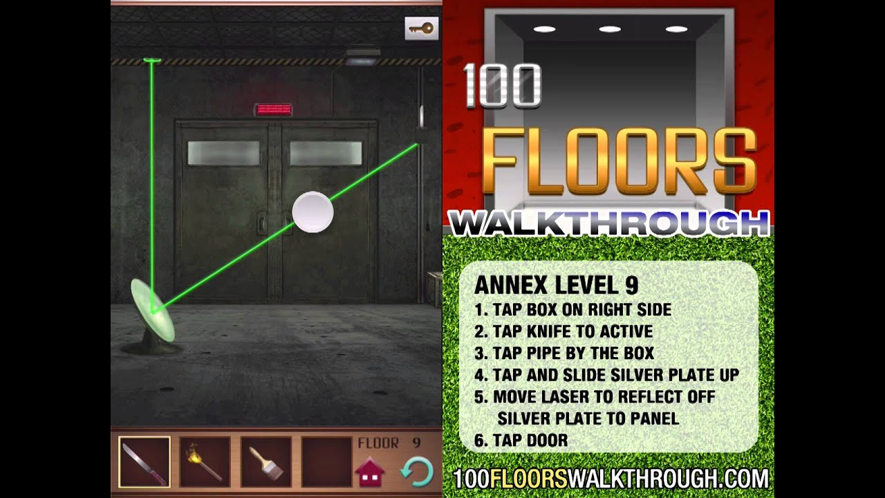 100 Floors Walkthrough Annex Floor 9 Walkthrough 100