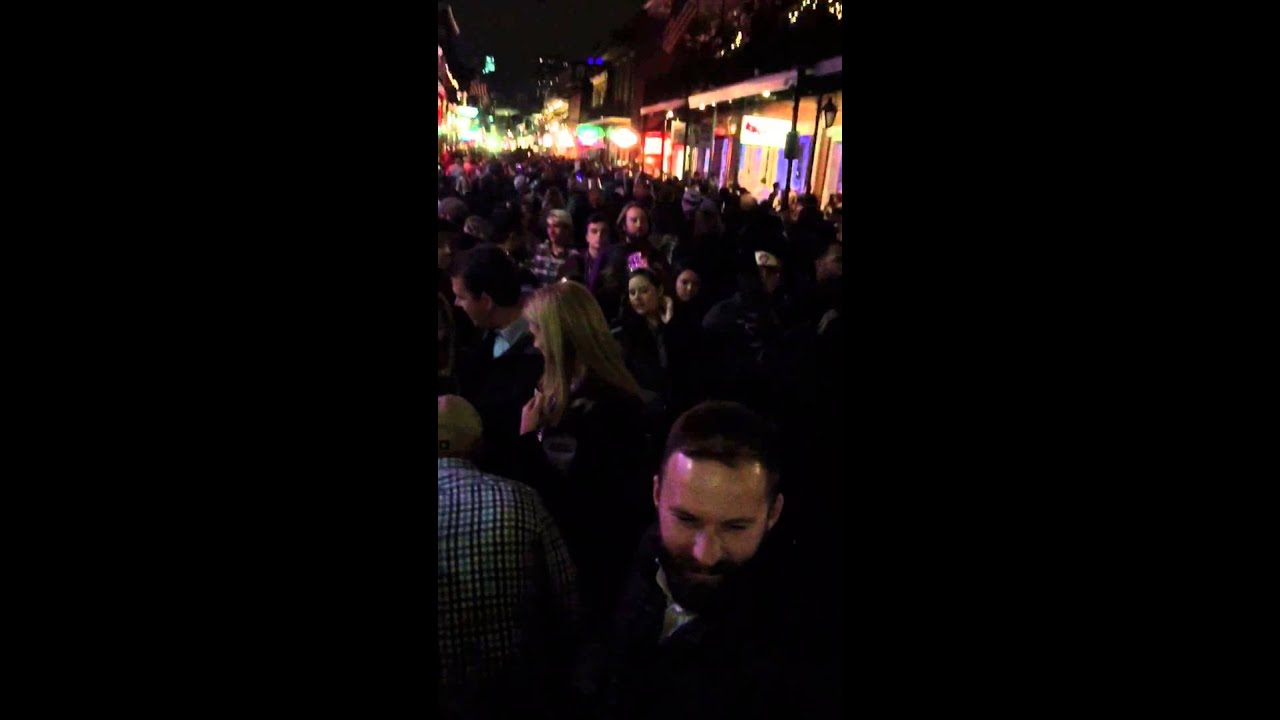 New Years Eve On Bourbon St New Orleans La