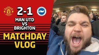 Football Taught By Matt Busby! United 2-1 Brighton Vlog   Man Utd News