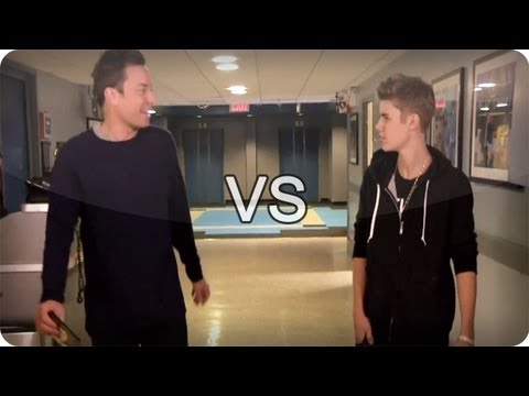 Jimmy Fallon vs Justin Bieber (Late Night...