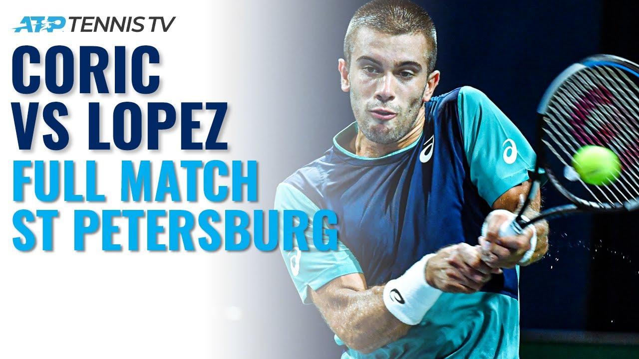 Feliciano Lopez v Borna Coric - Full Tennis Match | St Petersburg 2020