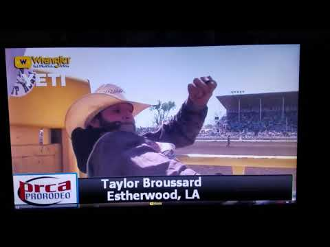 Taylor Broussard on C5 Rodeo's Black Moon Red Bluff 2018