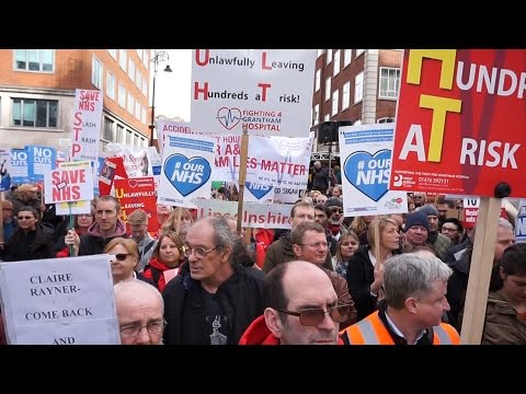 National Protest March in London to #SaveOurNHS 250,000 People Turned up
