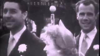 Edith Piaf - MARIAGE AVEC JACQUES PILLS (reportage) 1952