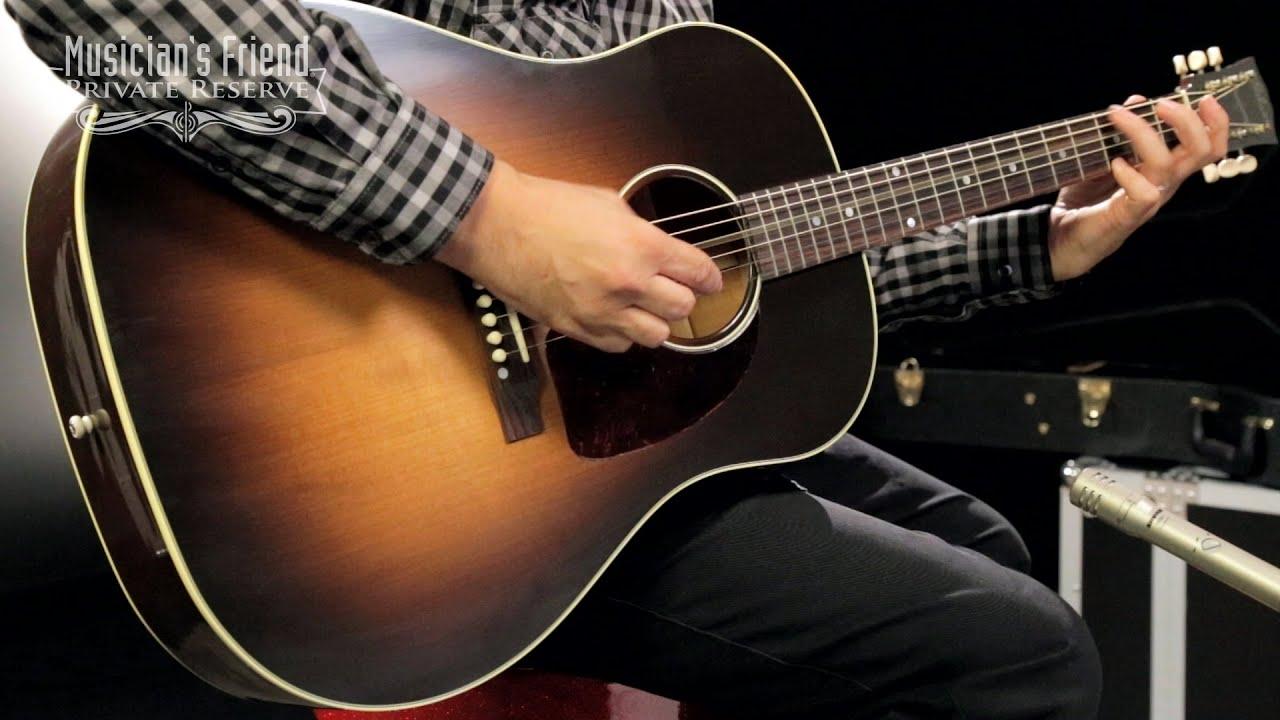 gibson 2016 j 45 vintage slope shoulder dreadnought acoustic guitar youtube. Black Bedroom Furniture Sets. Home Design Ideas