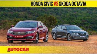 Honda Civic vs Skoda Octavia | Petrol AT Comparison Test Review | Autocar India