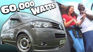 VIBE's LOUDEST Volkswagen on 60,000 WATTS! Inside 160db Car Audio BASS System w/ 12 15