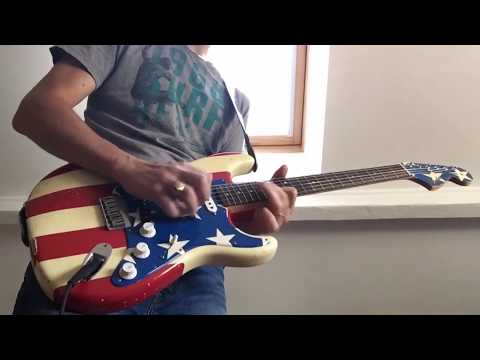 Fender Strat Wayne Kramer - neck and middle pickup (humbucker) tone comparison