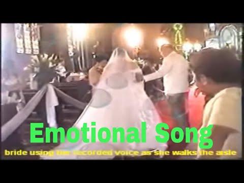 bride sings as she walks the aisle - sa piling mo