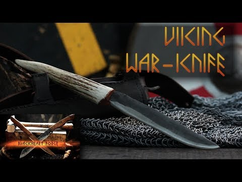 Viking War-Knife Forged From a Coilspring