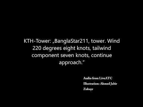 US bangla BS211 Kathmandu ATC Recording Before Crash. (Captioned)