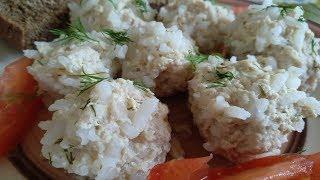 Как приготовить Ежики ТЕФТЕЛИ с Рисом. Meatballs With Rice Subtitles