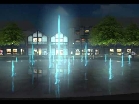 3d visualisierung vom marktplatz in langenfeld youtube. Black Bedroom Furniture Sets. Home Design Ideas