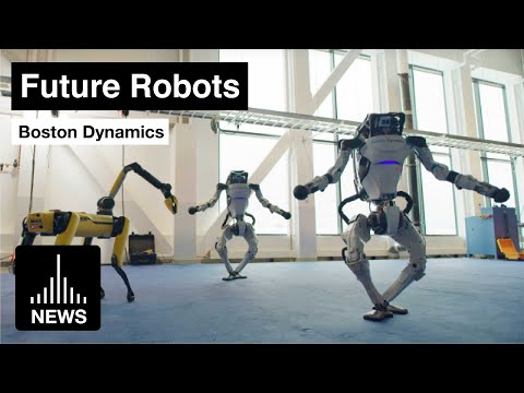 Future Robots - Boston Dynamics Robot Family Dance for New Year